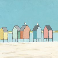 Cabanas II Pastel Fine Art Print