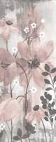 Floral Symphony Blush Gray Crop II Fine Art Print