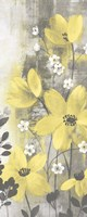 Floral Symphony Yellow Gray Crop I Framed Print
