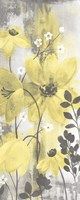 Floral Symphony Yellow Gray Crop II Fine Art Print