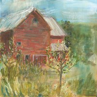 Barn Orchard Fine Art Print