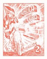 Cuba Stamp XXI Bright Fine Art Print
