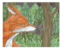 Fox In The Woods Fine Art Print