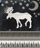 Good Night Moose V1 2 Fine Art Print
