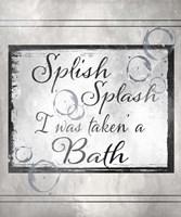 Beloved Bath - Splash Framed Print