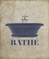 Beloved Bath Blue - Bathe Fine Art Print