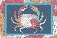 Sea Side BoHo - Crab Framed Print