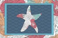 Sea Side BoHo - Starfish Framed Print