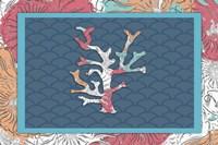 Sea Side BoHo - Coral Framed Print