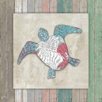 Sea Side BoHo Frame  - Turtle Framed Print