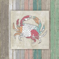 Sea Side BoHo Frame - Crab Framed Print