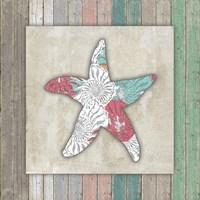 Sea Side BoHo Frame - Starfish Framed Print