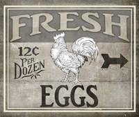 Vintage Farm Sign - Local Farmer - Fresh Eggs Fine Art Print