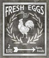 Farm Sign Fresh Eggs Fine Art Print