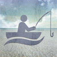 Beach Signs Fishing Fine Art Print
