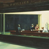 Nighthawks Detail Fine Art Print