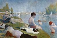 Bathing at Asnieres Fine Art Print