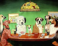 Dogs Playing Poker Fine Art Print