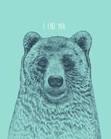 I Like You Bear Fine Art Print