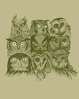 Nine Owls Fine Art Print