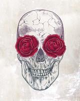 Skull Roses Fine Art Print