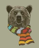 Bear Scarf Fine Art Print