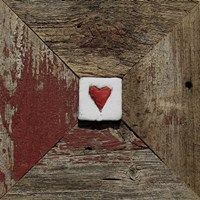 Hearts' Desire Barn - Red Fine Art Print