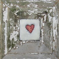 Hearts' Desire Distressed White Fine Art Print