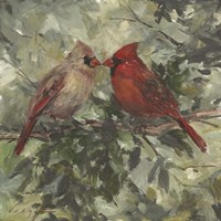 Kissing Cardinals Framed Print
