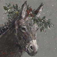 Mary Beth the Christmas Donkey Fine Art Print