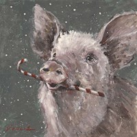 Teri the Christmas Pig Fine Art Print