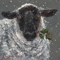 Wren the Christmas Sheep Fine Art Print