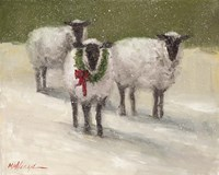 Lambs with Wreath Fine Art Print