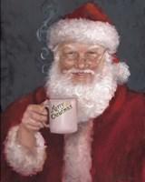 Santa with a Mug Fine Art Print