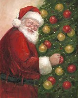 Santa with Ornaments Fine Art Print