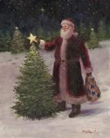 Santa with Stars Fine Art Print