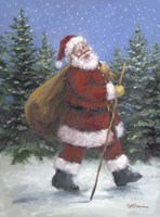 Walking Santa Fine Art Print