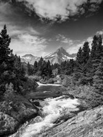 Glacial Creek - Monochrome Fine Art Print