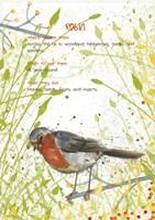 Robin Postcard Fine Art Print