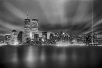 Nyc Wtc Skyline Finished Fine Art Print