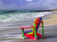 Rainbow Chair Fine Art Print