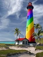 Rainbow Lighthouse South Fine Art Print