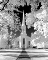 Westfield Church Infrared Fine Art Print