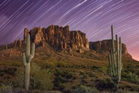 Lost Dutchman Star Trails Fine Art Print