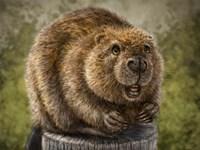 Beaver Totem Fine Art Print