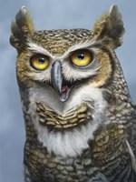 Great Horned Owl Totem Fine Art Print