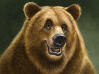 Grizzly Totem Fine Art Print