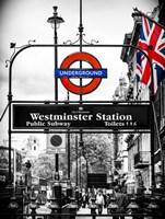 Westminster Station Underground Fine Art Print