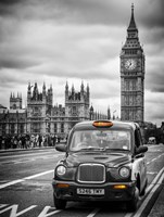 London Taxi and Big Ben - London Fine Art Print