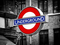 The Underground - Subway Station Sign Fine Art Print